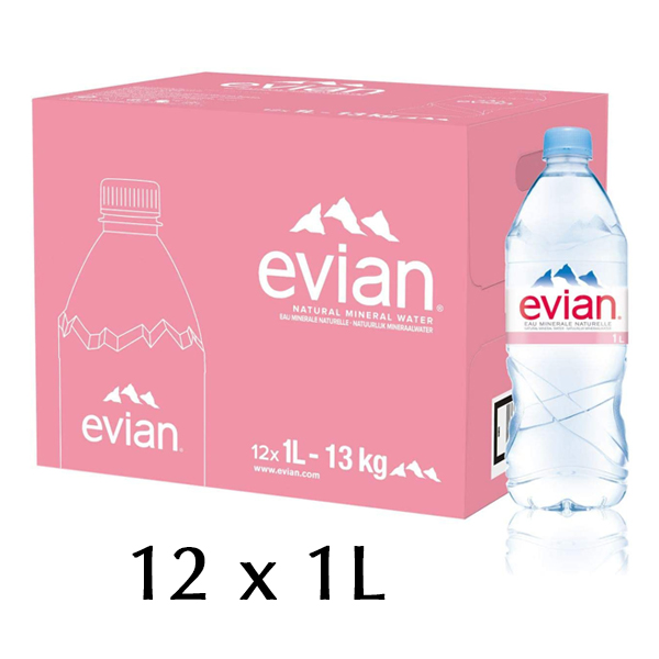 The French Grocer - Still Water - Evian - 12x1L