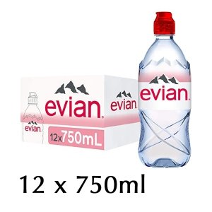 The French Grocer - Still Water - Evian - 12x750ml - 2