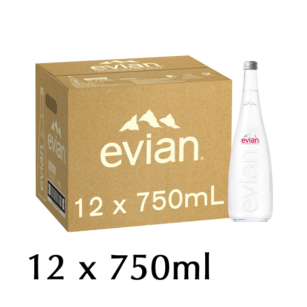 The French Grocer - Still Water - Evian - 12x750ml