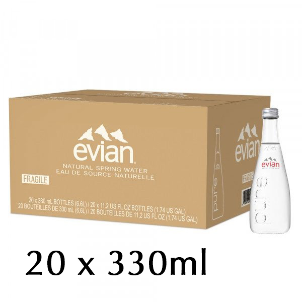 The French Grocer - Still Water - Evian - 20x330ml