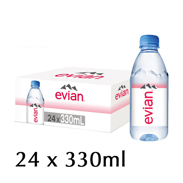 The French Grocer - Still Water - Evian - 24x330ml