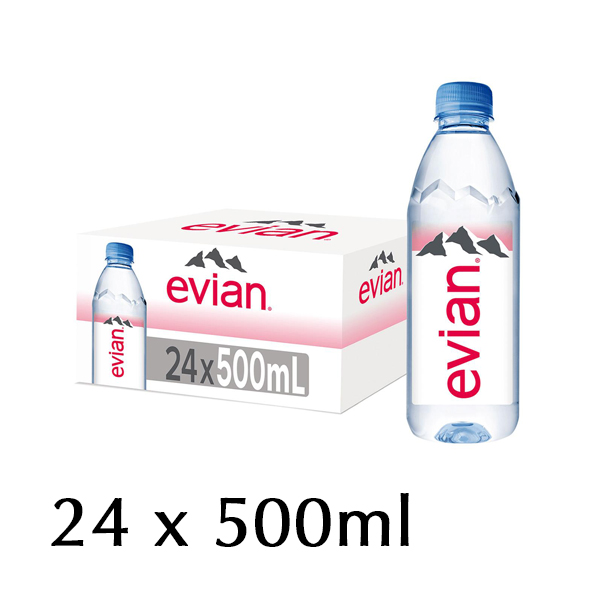 The French Grocer - Still Water - Evian - 24x500ml