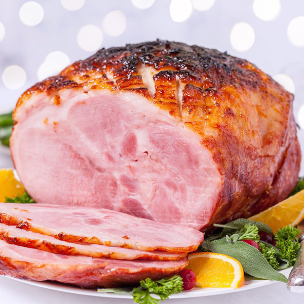 The French Grocer - Carne Meat - Smoked Honey Glazed Ham Cross Cut