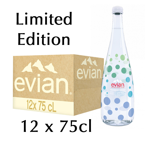 The French Grocer - Still Water - Evian - 12x750ml - Limited Edition