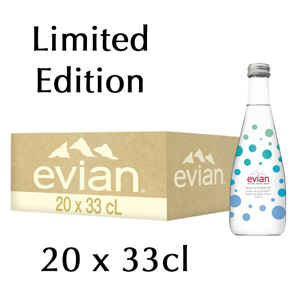 The French Grocer - Still Water - Evian - 20x330ml - Limited Edition